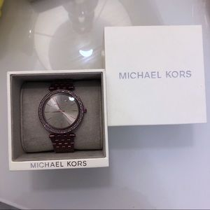 MICHAEL KORS DARCI PLUM MK3554 WATCH NIB